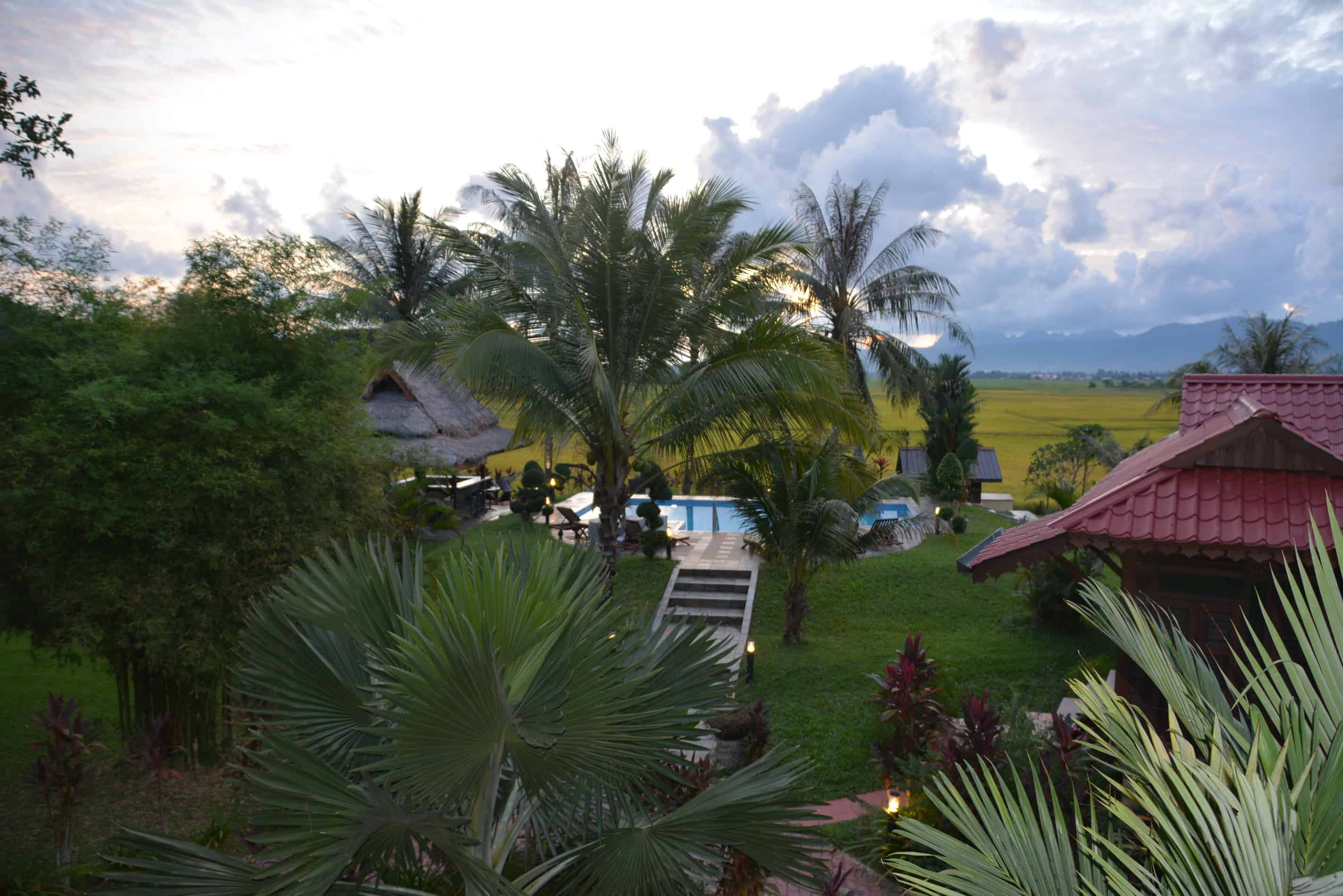 Sunset Valley Holiday Houses - Rice paddy view